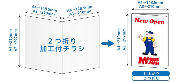 二つ折り付イメージ