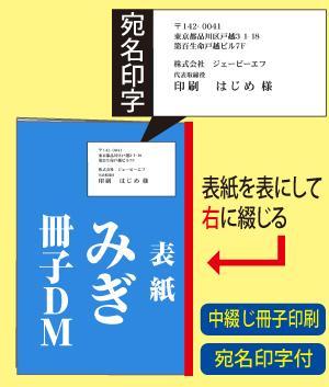 みぎ綴じ冊子DM(宛名印字付)