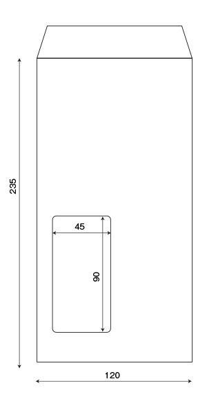 長3窓明封筒