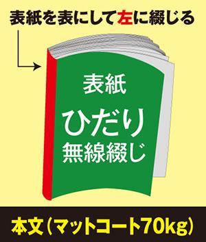 ひだり無線綴じ冊子(本文 マットコート70kg)