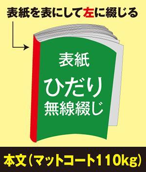 ひだり無線綴じ冊子(本文 マットコート110kg)