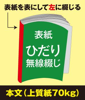 ひだり無線綴じ冊子(本文 上質紙70kg)