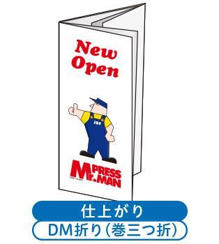 DM折り加工付チラシ(2つ折り+巻3つ折り)
