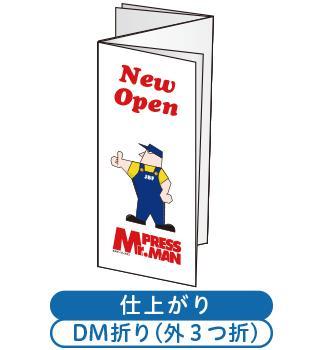 DM折り加工付チラシ(2つ折り+外3つ折り)