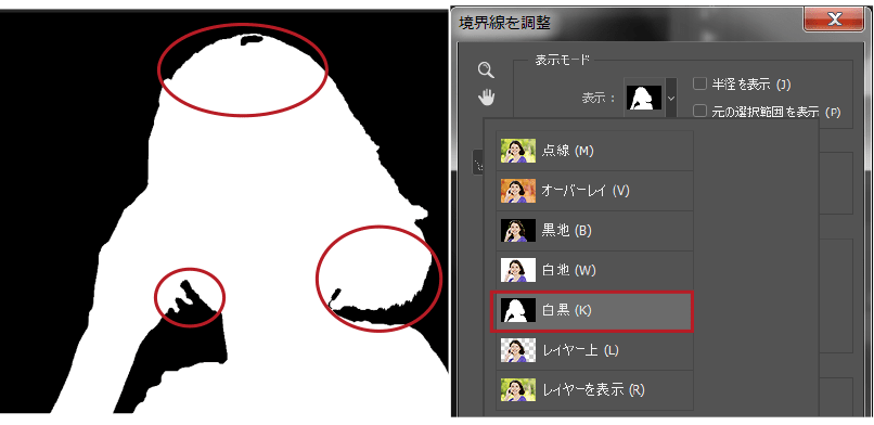 白黒表示モード