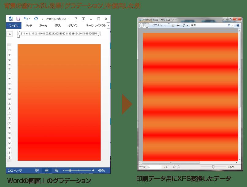 グラデーションを使用した例