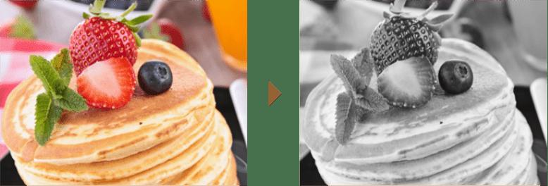 カラーからモノクロ変換後の比較