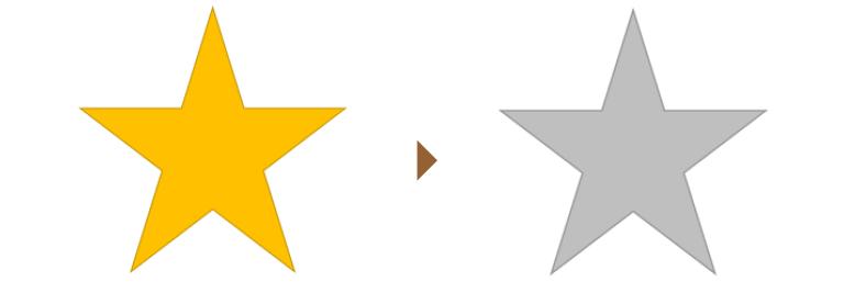 図形のカラーからモノクロ変換後の比較